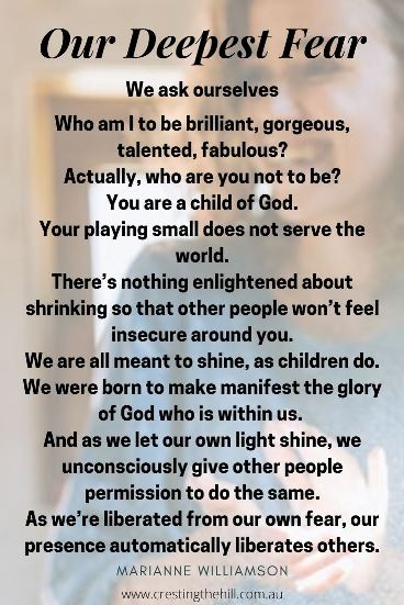Our Deepest Fear - Marianne Williamson