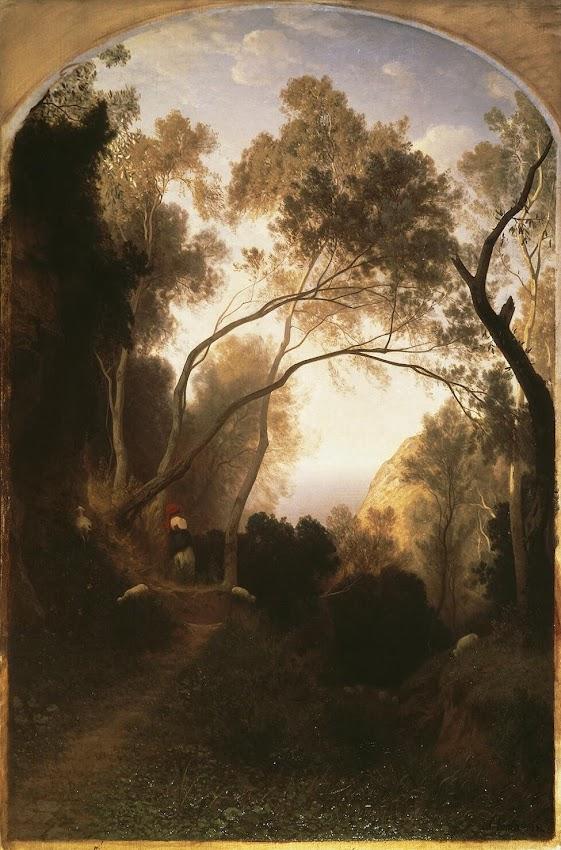 Antonio Fontanesi - Path in the Mountains