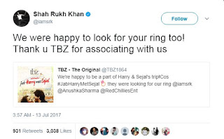TBZ - The Original launches 'Jab Harry Met Sejal' win the ring campaign