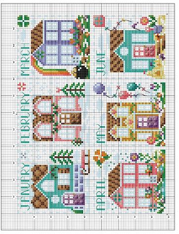 Stitch the seasons pattern free