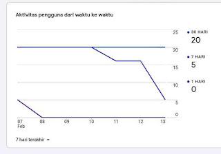 Hasil pantauan data google analytic