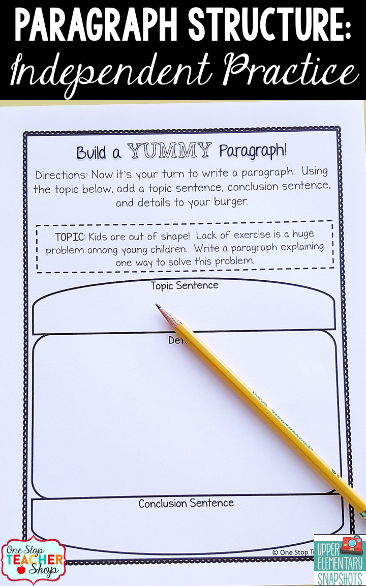 How to Teach Paragraph Writing: Paragraph Structure  Upper