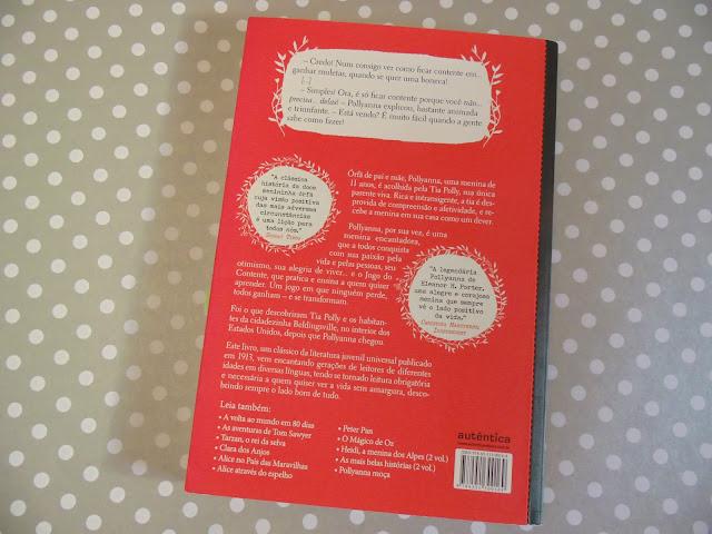 Contracapa do livro Pollyanna escrito por Eleanor Hodgman Porter