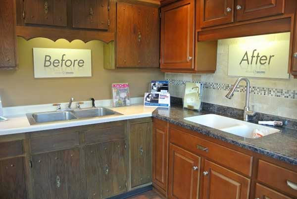 refacing kitchen cabinets with laminate before and after images cabinet doors diy how to make old look new your like small