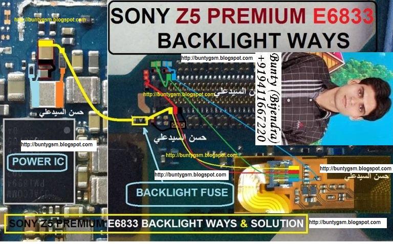 Sony Xperia Z5 E6833 Display Light Ways Solution Backlight Jumper ...