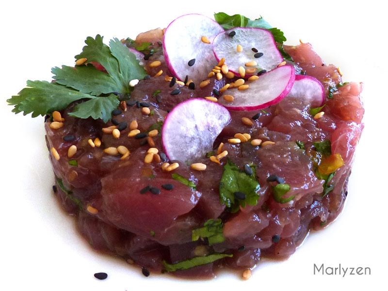 Tartare de thon à l'asiatique