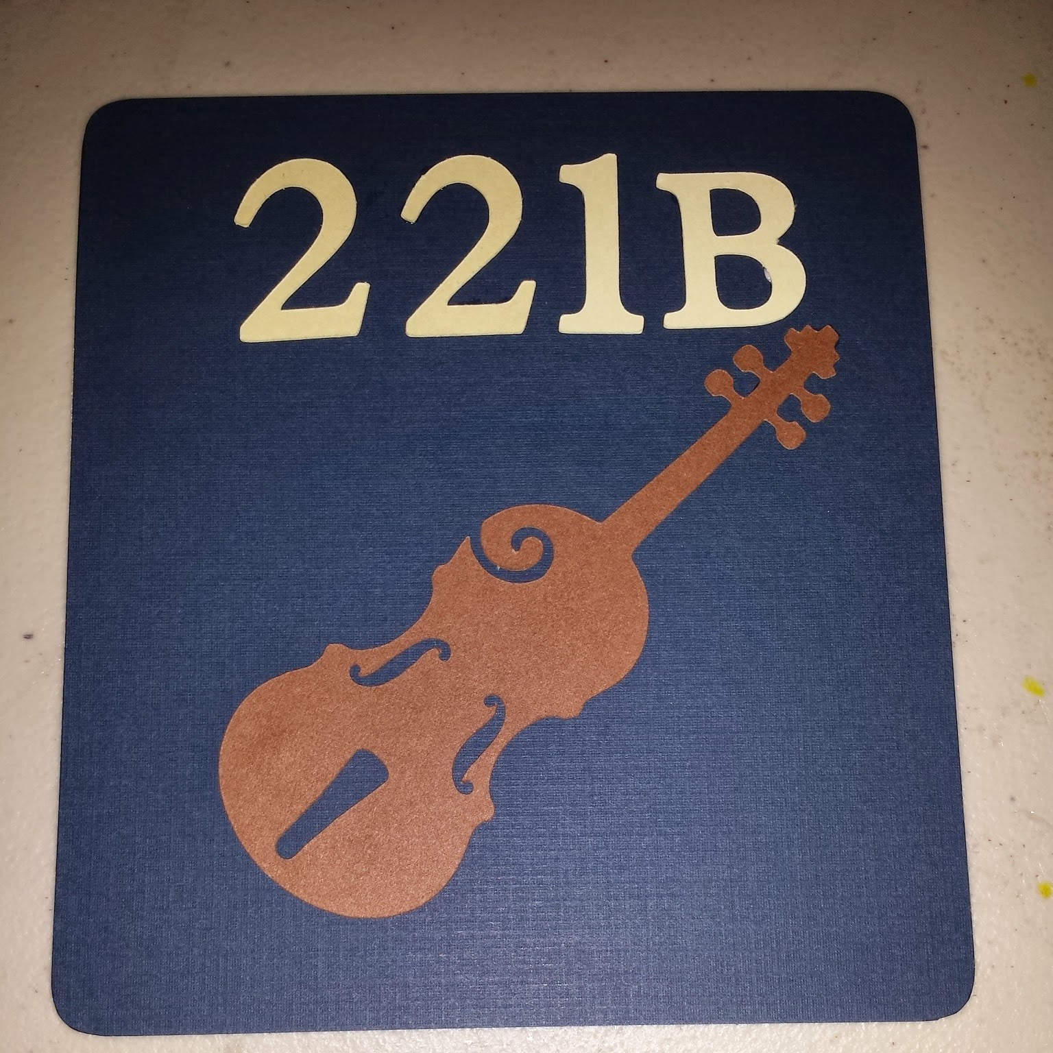 """221B"" with Violin hand fan base for BBC Sherlock themed party favor"