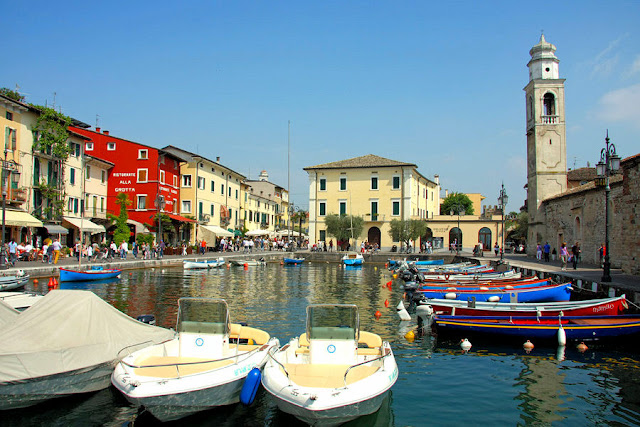 Lazise is home to scenic ports and picturesque lakefront boulevards.