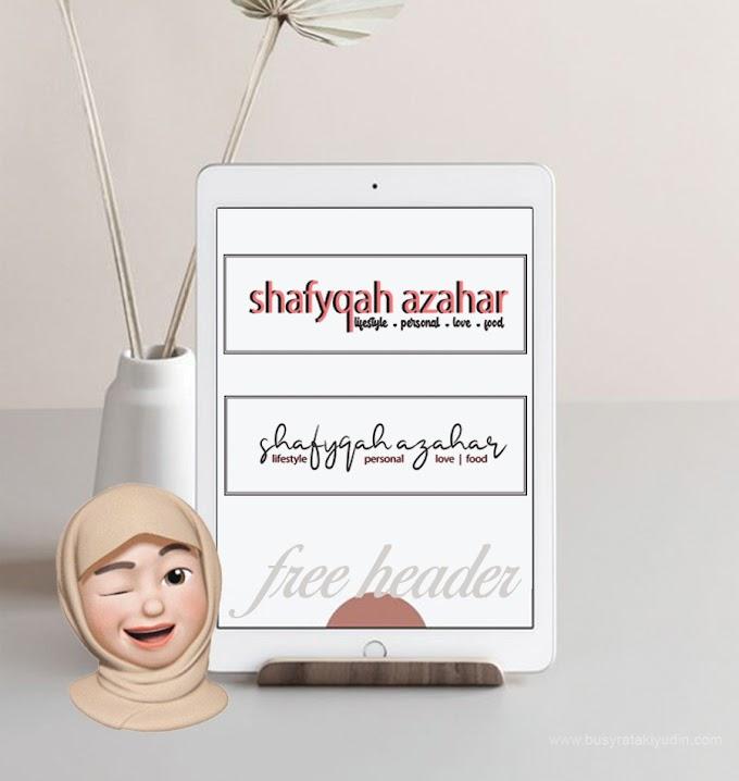 Free Header untuk Blogger Syafykah Azahar
