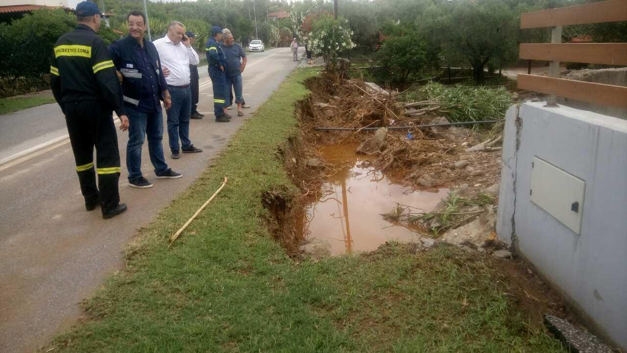 Άμεση παρέμβαση της Περιφερειακής Ενότητας Χαλκιδικής στις πληγείσες περιοχές από την θεομηνία της 26ης και 27ης Ιουνίου