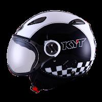 Helm KYT Elsico Seri 2 Black White