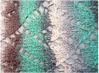 a close up of the diamond stitch pattern