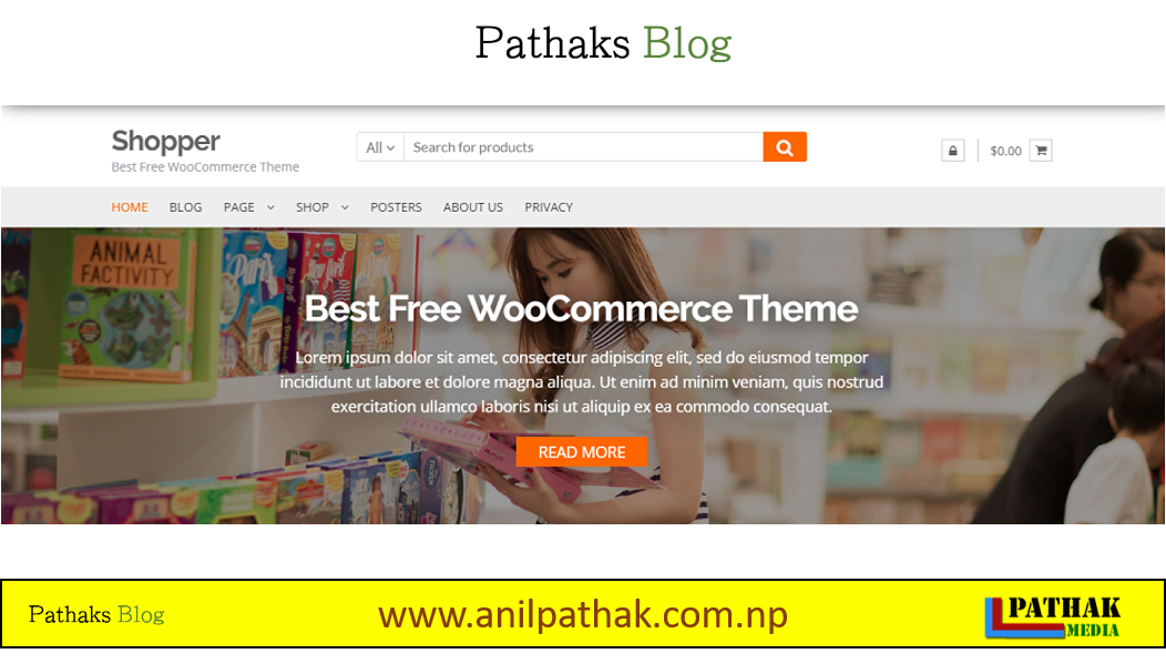 Best Wordpress Theme For Free - Shopper, pathaks blog, anil pathak