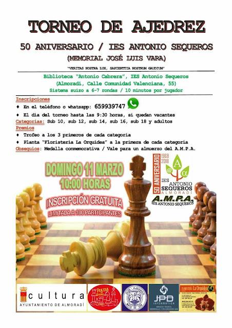 Torneo IES Antonio Sequeros Almoradi «11 Marzo 2018»