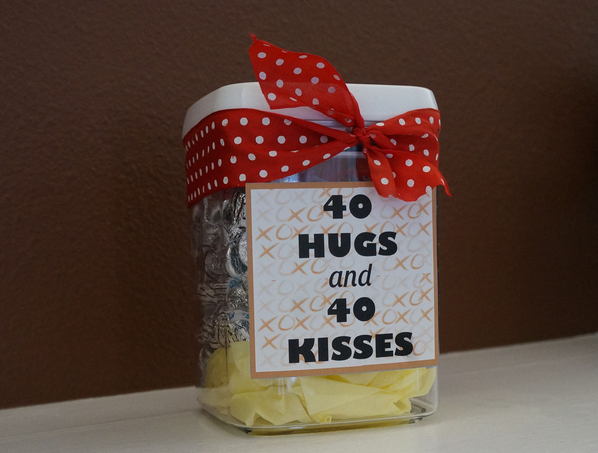 Home Confetti: Quick And Easy 40th Birthday Gift