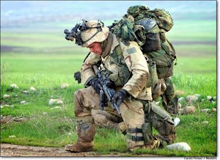 blog picture of soldier kneeling down with all his equipment