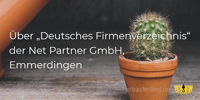 """Titel: Über """"Deutsches Firmenverzeichnis"""" der Net Partner GmbH, Emmerdingen"""