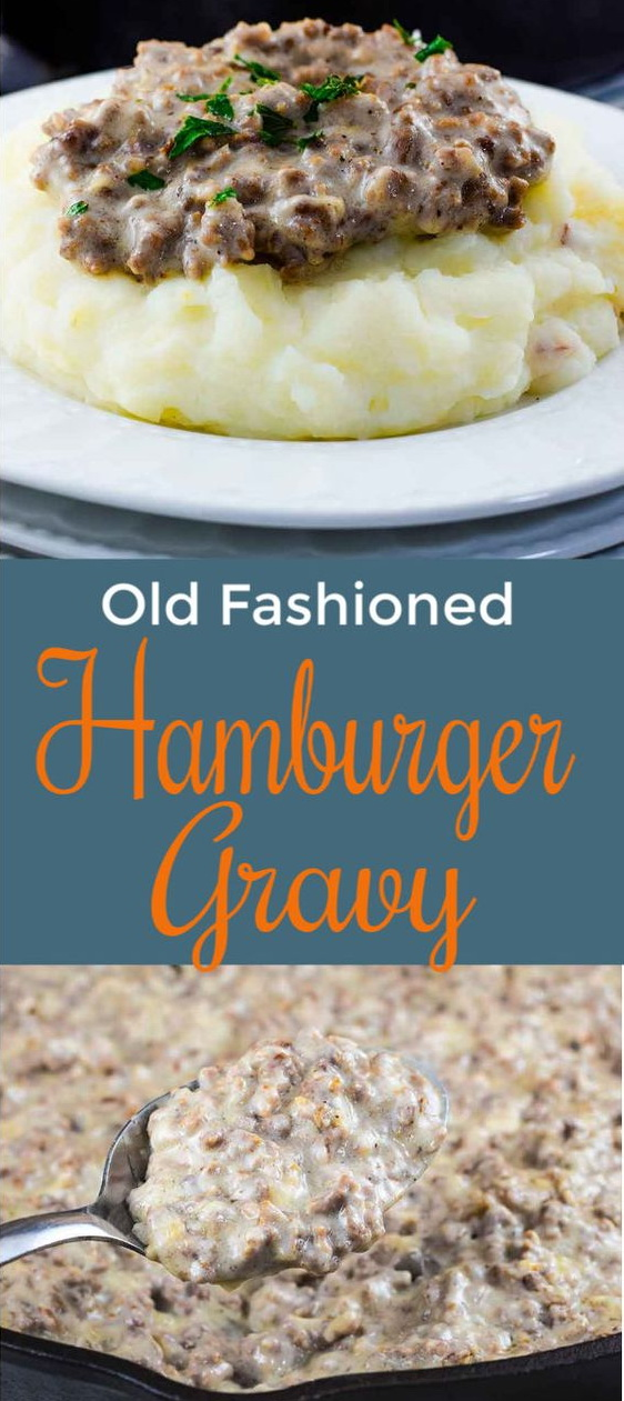 Easy Creamed Hamburger Gravy Recipe