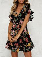 https://www.dresshead.com/flirty-ruffle-flared-mini-dress-floral-printed-wrap-style-black/