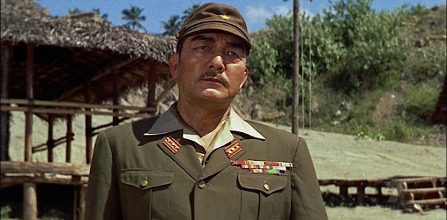 Sessue Hayakawa as Colonel Saito in The Bridge on the River Kwai