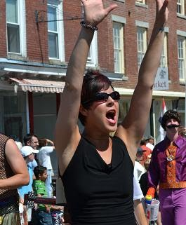 Shout Out from the Old Hallowell Day Parade © Mary Becker Weiss