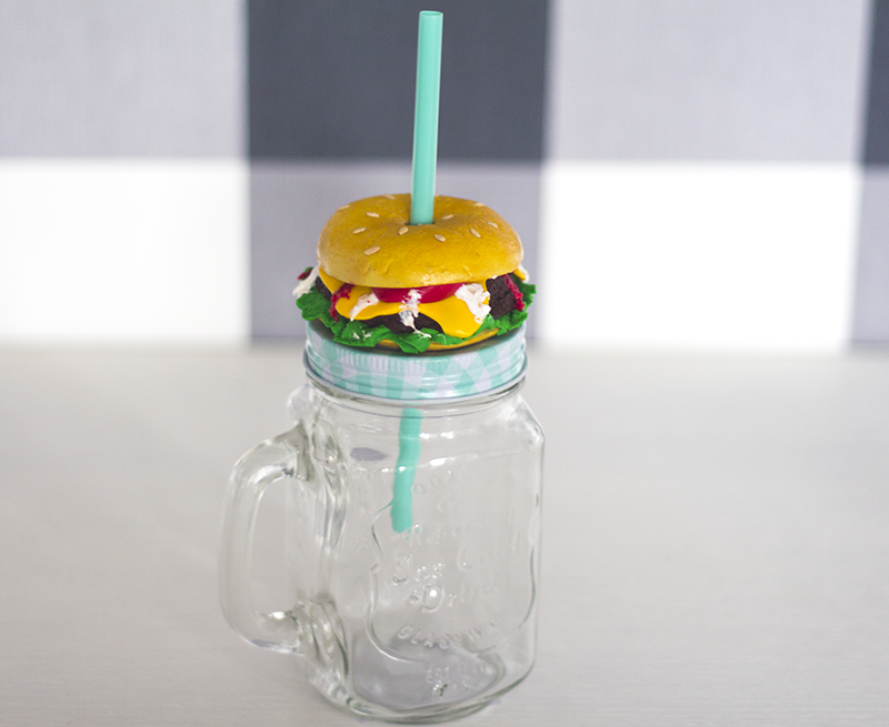 jar with hambureger