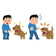 犬がなつく人・なつかない人のイラスト(男性)