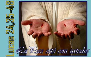 Resultado de imagen para Lucas 24,35-48