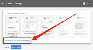 Google Keyword Planner sign up