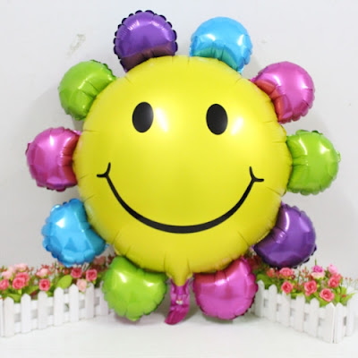 Balon Foil Sun Smile Rainbow
