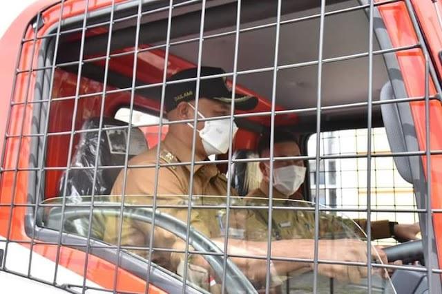 Plt Bupati Bener Meriah Dailami Test Drive Damkar Baru