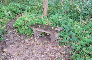 A bench by the canal in Middlewich