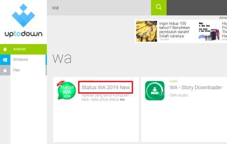 cara download aplikasi wattpad di laptop