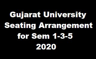 Gujarat University Seating Arrangement For Sem 1-3-5 - 2020