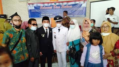 Rudi Hariyansyah hadiri pelantikan Wali Nagari se-Kecamatan Bayang