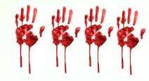 4 Bloody Handprints