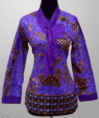 baju batik kerja wanita modis
