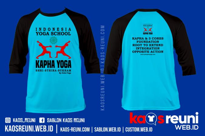 Sablon Kaos Yoga School - Kaos Online