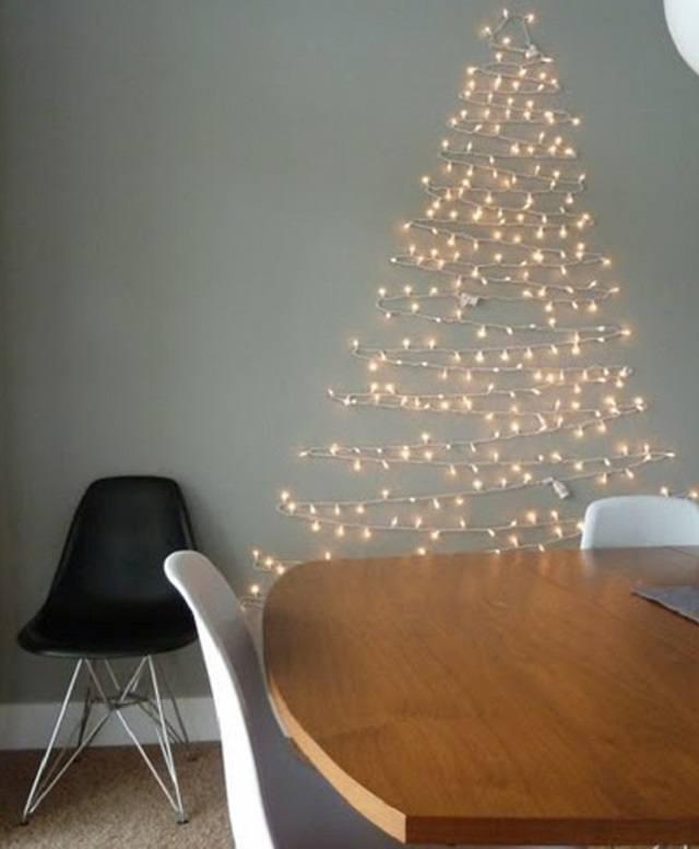 Árboles de Navidad low cost con luces