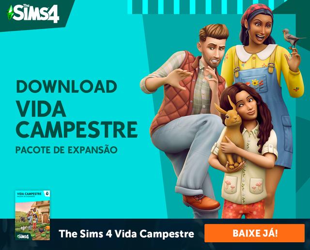 The Sims 4 Vida Campestre Pacote de Expansão já está disponivel para download