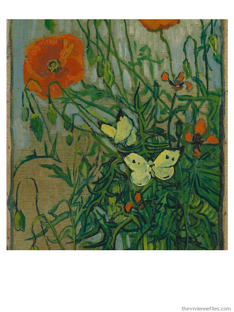 Poppies and Butterflies by Vincent Van Gogh