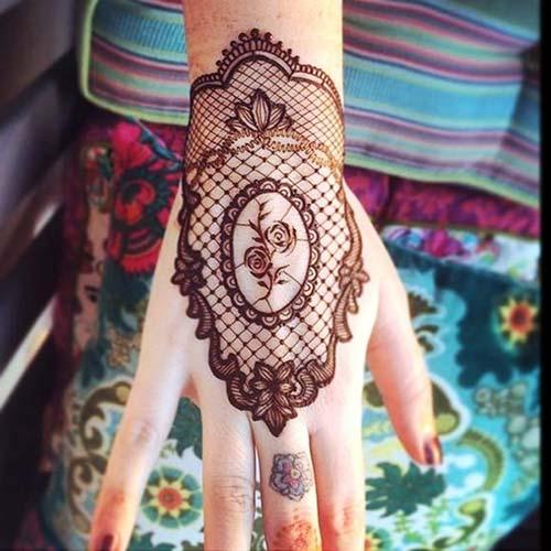 dantel dövmeleri lace tattoos 18