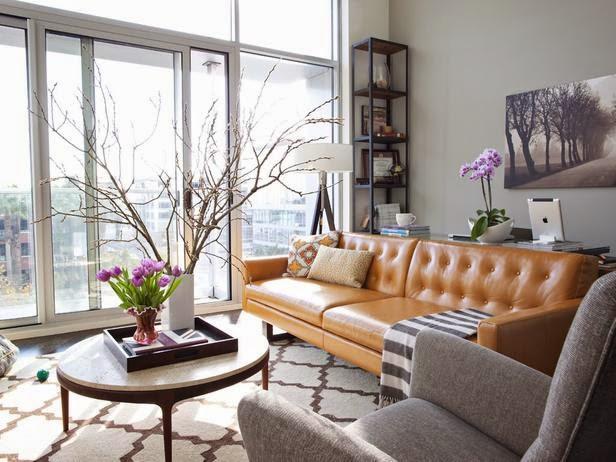Work Desk Behind A Sofa Design Gourmande