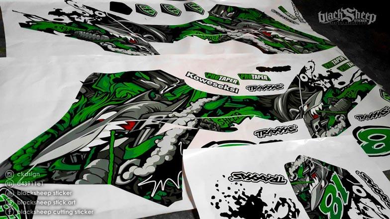 finishing kawasaki dtracker new shark dark green