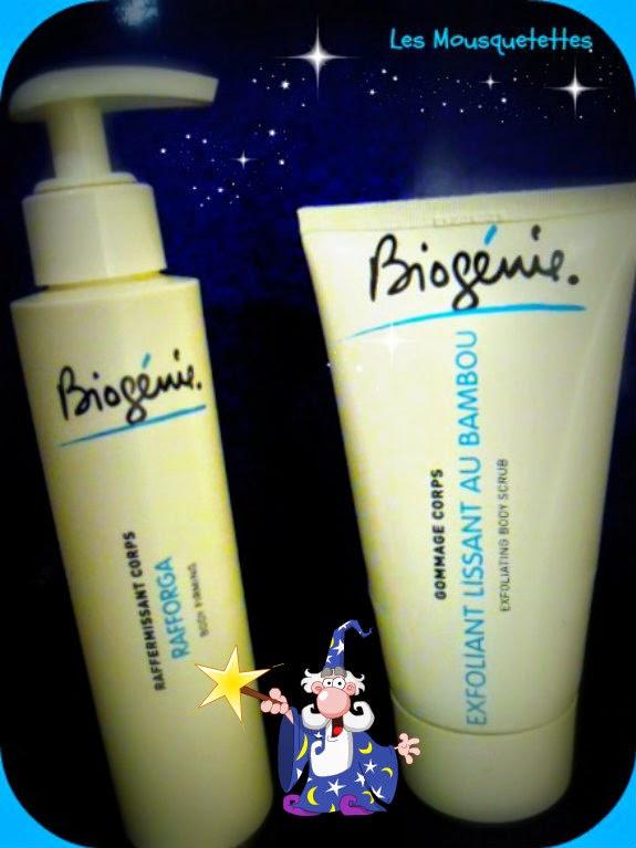 Gommage corps et crème raffermissant corps Biogénie - Les Mousquetettes©