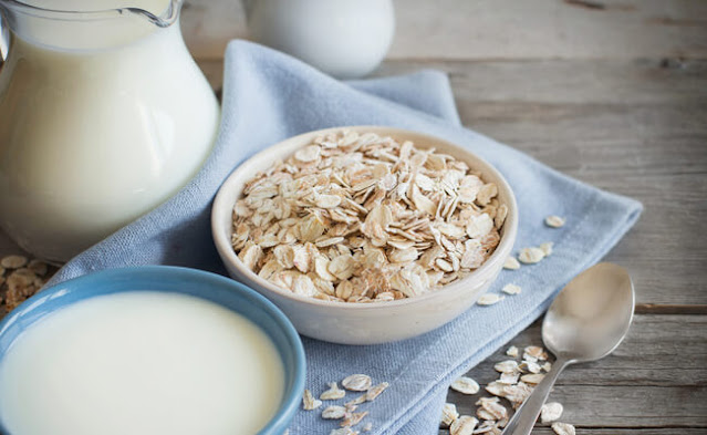 الشوفان مع الحليب لزيادة الوزن