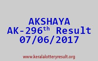 AKSHAYA Lottery AK 296 Results 7-6-2017