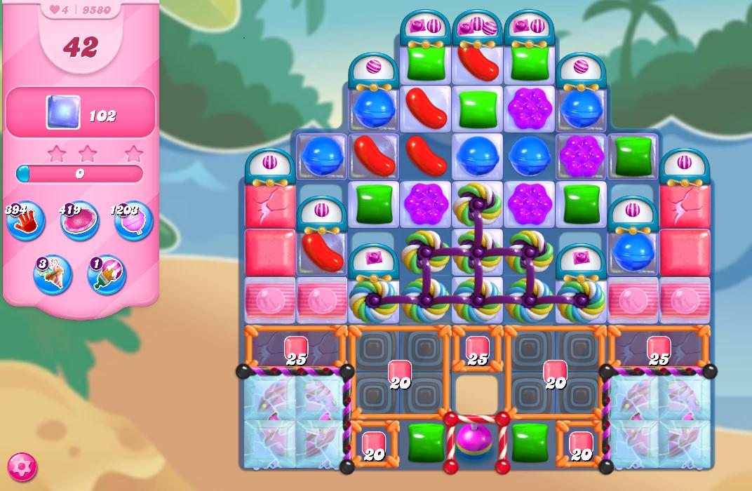 Candy Crush Saga level 9580