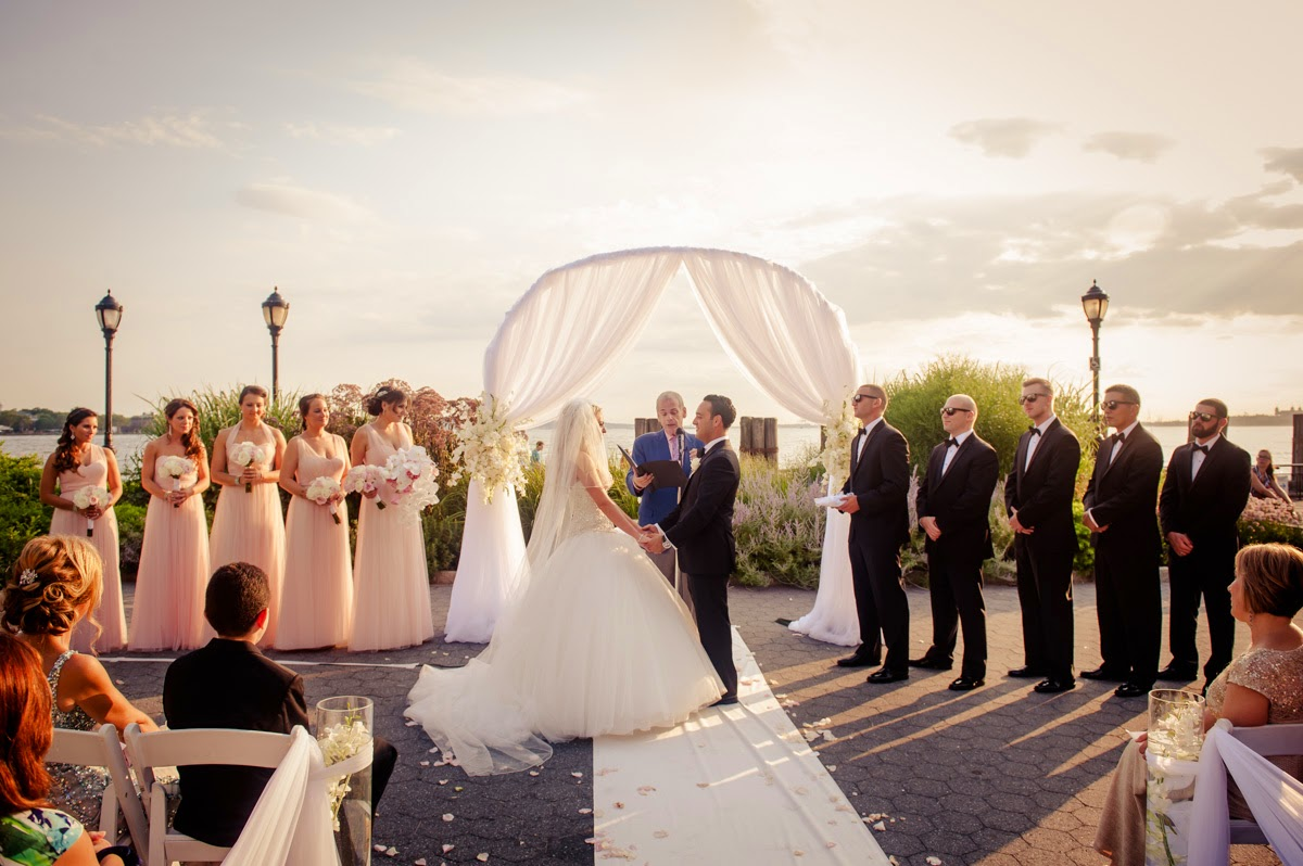 Colorful Outdoor wedding ceremony.
