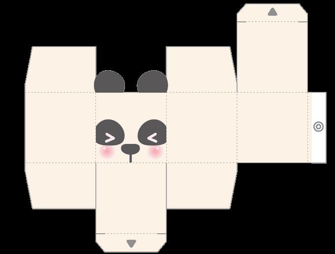 caja oso panda